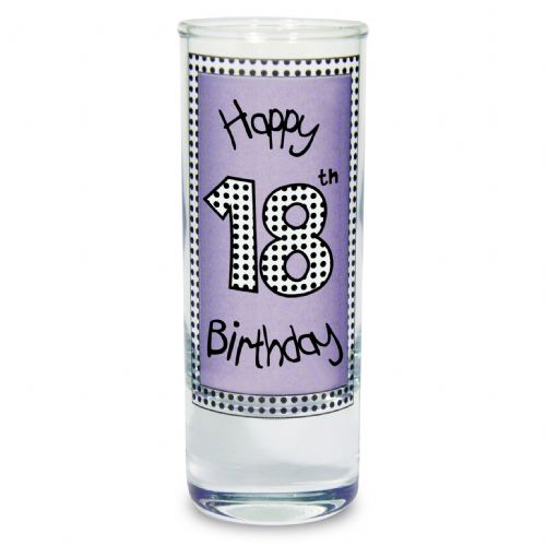 Lilac 18th Happy Birthday Shot Glass Gift for 18th